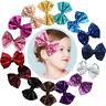 Cute Kids Girls Baby Glitter Shiny Sequin Bowknot Hair Clip Hair Bow Hairpin y