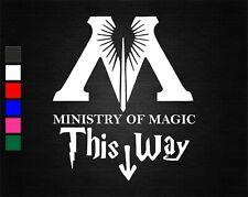 HARRY POTTER MINISTRY OF MAGIC THIS WAY TOILET SEAT VINYL BATHROOM STICKER