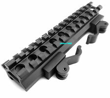 Tactical Double Rail Angle Mount Quick Detach Picatinny Rail 20mm Scope Mount 74