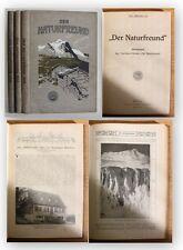 Der Naturfreund Jahrgang 17-19 3 Bde 1913-1915 Geographie Ortskunde Reise xy