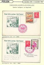 Polish Exile Government covers 1942/43 2 Polish Fieldpost PCs in Great Britain