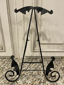 """Easel Cookbook Stand Black Metal Picture Photo Frame Stand Display 14"""""""