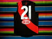✺Signed✺ DYSON HEPPELL Essendon Bombers Guernsey PROOF COA Jumper AFL 2020