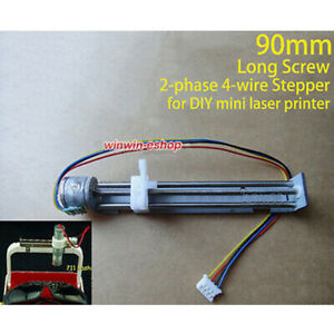 long screw 90mm 2-phase 4-wire Micro Mini stepper motor DIY Mini Laser printer