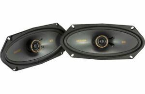 """2) Kicker 47KSC41004 4x10"""" 2-way Coaxial Speakers w/ Silk Dome Tweeters"""
