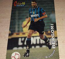CARD CALCIATORI PANINI 98 INTER BERGOMI CALCIO FOOTBALL SOCCER ALBUM