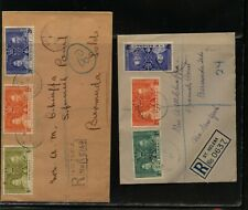 Seychelles and St Helena 1937 registered coronation covers Ms0116