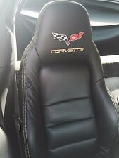 2005-2011 C6 Corvette Synthetic Leather Seat Covers Black Sport Seats