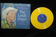 """Roy Rogers & Dale Evans """"Lord's Prayer/Ave Maria 45 RPM Rec 1950's w/Pic Sleeve"""