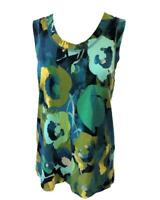 Simply Vera Wang Womens PETITE Printed Scoop Neck Sleeveless Pullover Knit Top M
