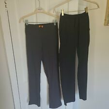 Lot of 2 X Small Scrub Pants black steel straight leg drawstring