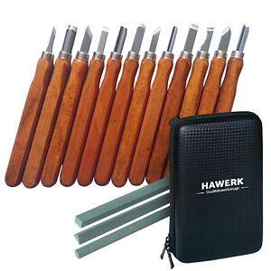 Holzschnitzwerkzeug | 3 Schleifsteine + Tasche |  Set für Profis und Anfänger