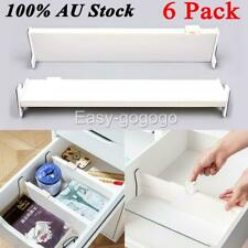 6 pack Adjustable Drawer Divider Storage Retractable Board Drawer Organizer NEW