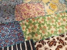 Vintage crazy quilt top, embroidered, cotton backed