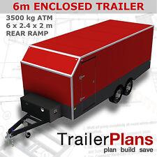 Trailer Plans - ENCLOSED TRAILER PLANS- Enclosed Size:6x2.4x2m - PLANS ON CD-ROM