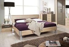 Rauch 'Lyon' Range German Made King Size Bed. Oak & High Gloss Lava Brown