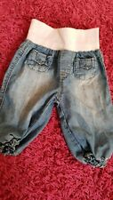 0-3 months baby girl denim soft trousers jeans from baby