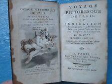 DEZALLIER D'ARGENVILLE : VOYAGE PITTORESQUE DE PARIS, 1752. Front. coul., 4 pl.