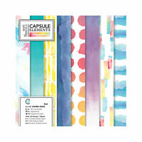 """Papermania 6x6"""" Paper 36 sheet 160gsm Capsule Collection Elements Pigment"""