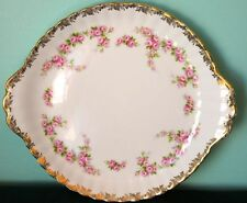 Royal Albert Vintage DIMITY ROSE Cake Plate with Handles