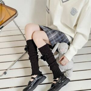Printing Foot Cover Knitted Leg Warmers Knee Protection Women Twist Hosiery