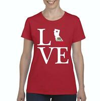 Love California  Women Shirts T-Shirt Tee