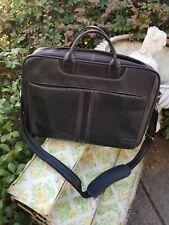 Clark & Mayfield Black Leather Laptop Attache Bag