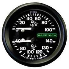 "Racetech Oil Pressure/Oil Temp Combi Gauge 1/8"" BSP Cone Fitting & 7ft Pipe"