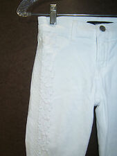 NEW J. Brand Skinny Embroidered White Jeans sz 25