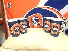Denver Broncos NFL 20 oz. NEW 4 Cup Set!  Dishwasher Safe! Drew Lock Approved!!