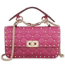 Valentino Rockstud Spike Small Chain Bag - Dark Pink