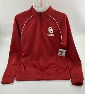 Oklahoma University OU Stadium Athletics 1/4 Zip Small Fleece Lined Pullover