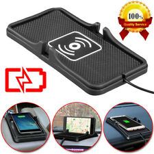 Car Qi Wireless Charger Dashboard Phone Holder Non-Slip Mat For Samsung iPhone X