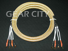 cjc04 2.5m 8ft Speaker Cable OFC Wire CMC Gold Spade Copper Plug Banana HiFi