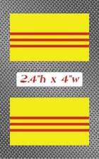 "2x South Vietnam 4"" Flag Sticker Decal graphics Vinyl Vietnamese"