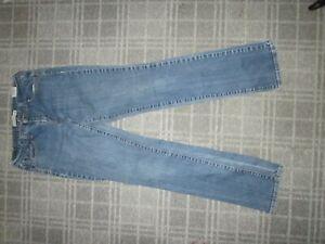 Levi's 505 LADIES JEANS denim trousers SIZE 10 STRAIGHT SLIM MID stretch tall