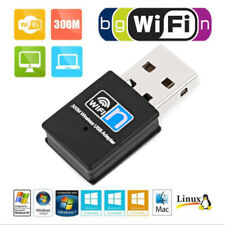 USB 2.0 WiFi Adapter Stick Dongle Wireless 300M IEEE 802.11b/g/n For Laptop PC