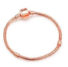 19CMS ROSE GOLD PLATED SNAKE CHAIN BRACELET FOR CHARMS & BEADS