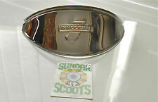 HEADLIGHT PEAK.POLISHED STAINLESS STEEL.GOOD FOR LAMBRETTA LI SERIES 2 SCOOTERS