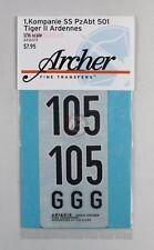 Archer 1/16 Tiger II (King Tiger) Markings 1./s.SS-Pz.Abt.501 Ardennes AR16019