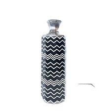 "MISSONI Target Black & White Metallic Silver Porcelain Ceramic Vase Planter 16"""
