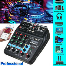 4 Channels USB Portable Mixer Bluetooth Record Live Studio Audio Mixing Console