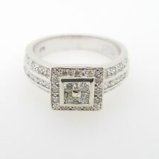 JEWELLERY SALE PRE-LOVED! 9ct White Gold 0.60pt Diamond Ladies Ring RRP $2500