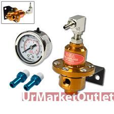DNA Gold 160 PSI Adjustable kPa Fuel Injection Pressure Regulator + Oil Guage