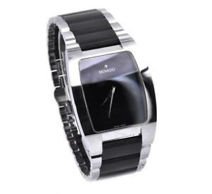 Movado Stainless Steel and Black Tungsten Fiero Watch
