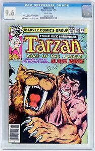 Tarzan #20 (Marvel 1979) CGC 9.6 NM+  WHITE Pages