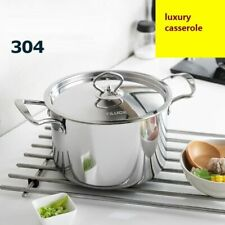 Cookware Stainless Steel Casserole With Pot Cover Kitchen Durable Food Dish Pots
