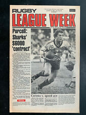 RUGBY LEAGUE WEEK Magazine Christmas Issue 1978 NRL QRL NSWRL newspaper