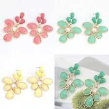 Butterfly Fastening Pear Alloy Drop/Dangle Costume Earrings