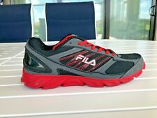 FILA COOL MAX Black and Red Athletic Sneakers Shoes Men's Size 11.5 D  ** (EUC)
